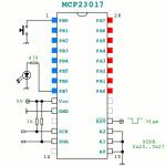 I/O port expander MCP23017